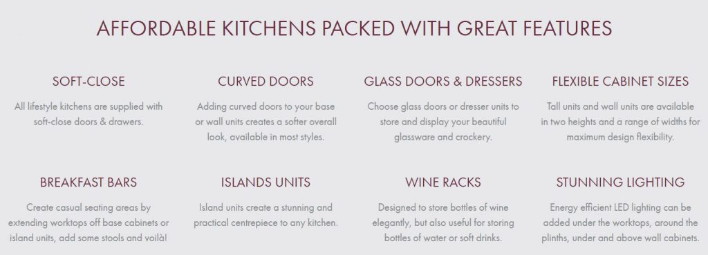 Affordable Kitchens with great features